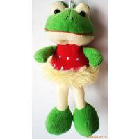 毛绒青蛙冰箱贴挂件,动物青蛙磁性贴挂件,广告促销品