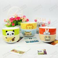 糖果色陶瓷碗 动物饭碗 创意个性厨房卡通日式出口餐具套装 碗