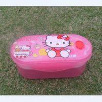 hello kitty粉色可爱饭盒 双层便当盒 卡通饭盒 微波炉用饭盒