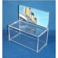 供应捐款箱亚克力盒子 请赐名片盒有机玻璃 透明展会慎用