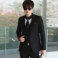 男士韩版修身西服套装定做 三件套西装定做