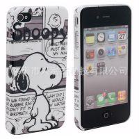 供应史努比可爱卡通狗iPhone4 4S外壳 手机保护套 苹果配件批发