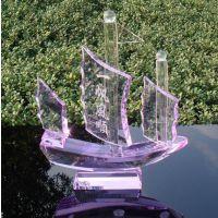 【3.21订货会】义乌批发市场 帆船模型 工艺品帆船 水晶工艺品