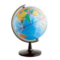 得力3035地球仪32cm 2013高清标准教学立体地理地球仪中英版