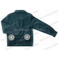 Air conditioned jacket with fans