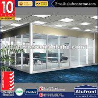 厂家定制铝合金办公隔断 王品玻璃办公隔断 广州铝合金玻璃隔断