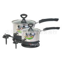 格通不锈钢电火锅多功能电煮锅分体电热锅电汤锅单柄锅B25