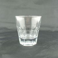 全钢化玻璃杯 啤酒八角钢化杯 餐具消毒公司用杯子 创意促销礼品