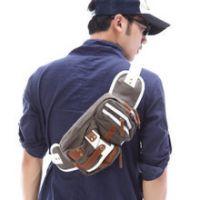 批发供应代发韩版男式 夏款帆布腰包小背包胸包/休闲小包