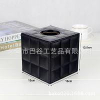 厂家订做皮革纸巾盒 车载皮质纸巾盒 酒店纸盒 欧式风格方形纸盒