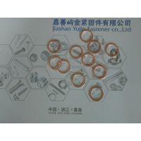 DIN7603-M22*27*1.5紫铜垫圈密封垫圈卡勒屿金销售表面本色100只/包