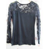 2014秋季新款 韩版女式玫瑰 圆领套头修身长袖打底衫 厂家直销