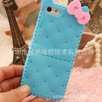 苹果iphone4 4S 5S 蝴蝶结 手机套 保护套 硅胶套 外壳可订做