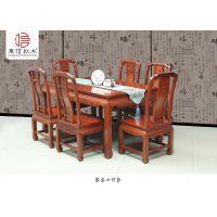 红木图片-花梨木价格-1.38*97*77米国色天香餐桌-品牌家具-古典中式-浙江东阳