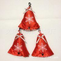 雪花啤酒圣诞节环保折叠礼品袋 圣诞铃铛造型折叠购物袋 有蝴蝶结