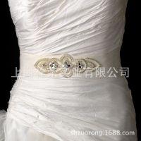 厂家直销礼服珍珠腰饰 手工新娘腰带 婚纱腰带水钻配饰 钉珠腰饰