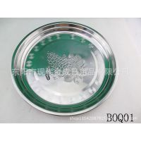 供应不锈钢水果盘 圆盘 日常家居用品
