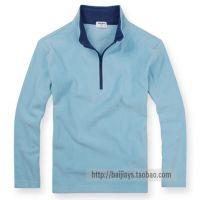 供应超赞品质日本U家男女童装HEATTECH摇粒绒立领打底衫长袖T恤衫T332