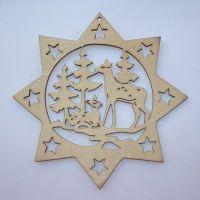 新款热销圣诞饰品 激光挂件 雕刻饰品 切割木质圣诞工艺品
