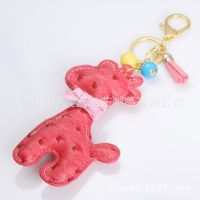韩国精品批发 创意皮质小马 钥匙挂件包包配饰 马上好运 0020020