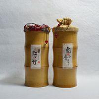 巨匠厂家定制天然环保原竹中国风创意竹子茶叶筒礼品包装