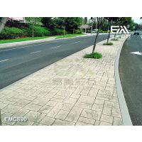 水泥压膜道路,彩色压膜地板,混凝土压花地坪,耐磨性高强路面,平整度+-2mm