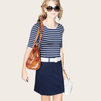 厂家现货批发夏季新款撞色纯棉条纹连衣裙 欧美女装 圆领短袖裙子