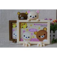 新款创意时尚DIY韩版可爱小熊横款7寸相框照片墙简约儿童宝宝相框