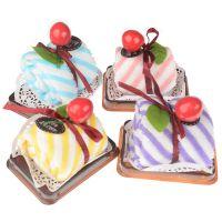 七夕情人节礼物批发 情人节必备创意礼物条纹方形蛋糕