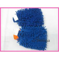 供应双面加厚雪尼尔手套  超细纤维清洁手套 双面擦车手套