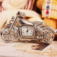 银白色摩托车个性钥匙扣石英手表 时尚项链挂件表厂家定做批发