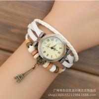 韩版时尚 皮革编织手表 女士手表 复古手表 个性手链表
