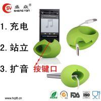专业厂家加工生产苹果播放器手机音响迷你音箱