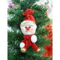 圣诞节创意小礼品 圣诞树装饰品 带铃铛泡沫圣诞小雪人挂件特价
