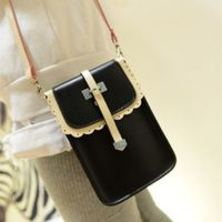 新款时尚韩版花边单箭头女士零钱包单肩斜跨手机包迷你版复古包