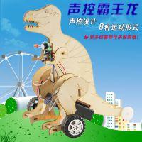 声控霸王龙 益智拼装早教玩具电动机器人模型 科技小制作男童礼物