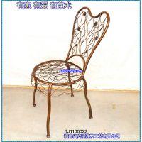 滢发 铁艺座椅 美式风格 时尚创意  休闲座椅 西餐厅椅子 可定做
