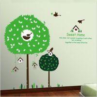 【厂家直供】 树鸟之恋 创意时尚个性可移除墙贴批发 装饰贴纸画