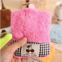 韩式可爱格子布 冲水热水袋 充水毛绒 迷你便 携暖水袋