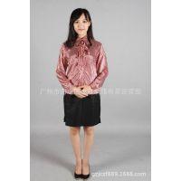 C3038酒店工作服 衬衣女服务员工作服长袖 餐饮制服