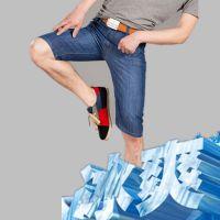中裤薄款男士牛仔裤夏季新品厂家批发品牌男装裤子休闲牛仔裤男潮