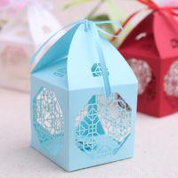 喜糖盒新款 欧式创意喜糖盒批发 激光镂空糖盒厂家 婚庆用品H18