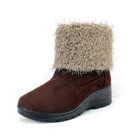 冬季中筒时尚雪地鞋 女款短靴加厚棉鞋雪地靴 翻毛口毛毛保暖鞋
