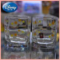 新款批发 迪士尼 单层环保情侣水杯 纸盒装正多边形玻璃杯DB-0730