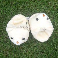 ②9cm可爱小熊拖鞋挂件 毛绒玩具挂件批发特价 可定做