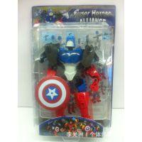 变形金刚英雄工厂 绿巨人 钢铁侠 美国队长 复仇者联盟变形机器人