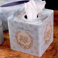 zakka杂货 车载铁皮纸巾盒 欧式创意抽纸盒 方形抽取式餐巾纸盒