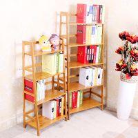 厂家直销 阶梯书架儿童落地实木书架书柜楠竹工艺品多层置物架