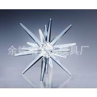 专业制造雪花压克力/圣诞挂件,冰柱/形状各异冰条/透明冰条