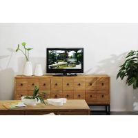老松木电视柜 现代简约组合实木地柜 矮柜卧室电视柜中式家具包邮